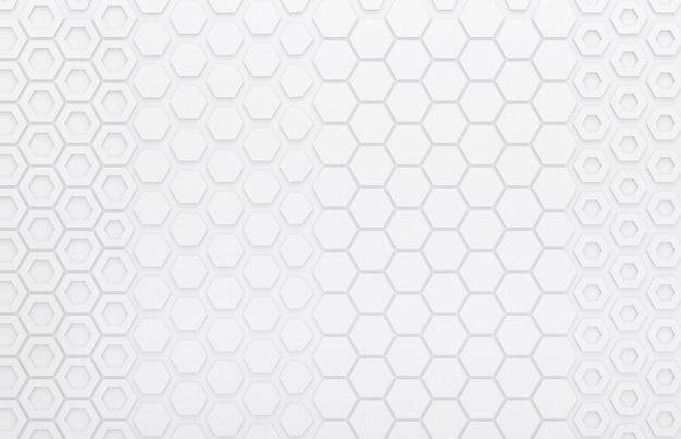 Grijze grafische hexagon muur, 3d muur