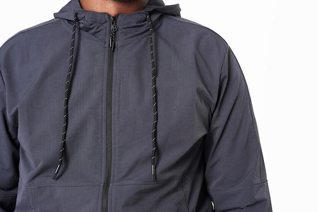 Grijze hoodie voor heren