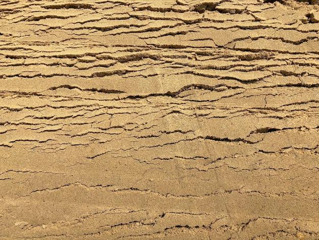Grijze kleur stenen baksteen blok vloertegel met groen gras en zand als achtergrond of textuur.