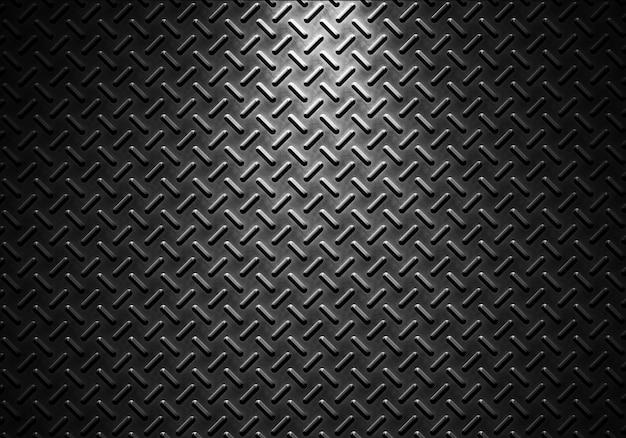 Grijze metaalplaattextuur met richtinglicht