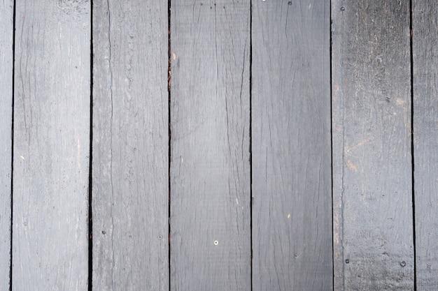 Grijze oude houten vloer patroon bovenaanzicht