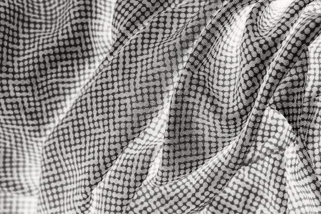 Grijze polka dots stof textuur achtergrond