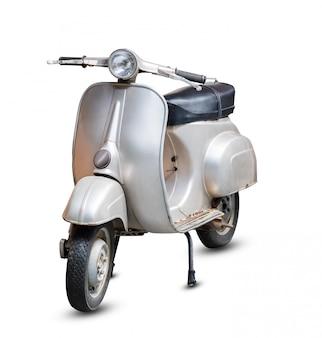 Grijze retro motorfiets
