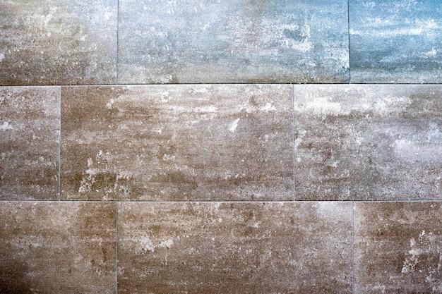 Grijze steen structuurpatroon - patchwork tegel / betegelde achtergrond