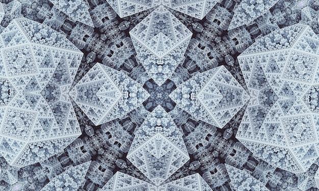 Grijze stercaleidoscoop. naadloze geometrie. grijze tapijtbloem. beige caleidoscoop kinderen. kerk van gebrandschilderd glas. grijs boheems ontwerppatroon.