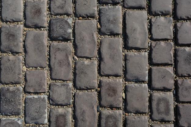 Grijze straatstenen straatstenen, close-up