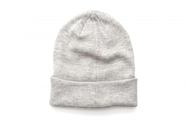 Grijze wollen hoed