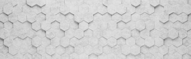 Grijze zeshoek tegels 3d-patroon achtergrond