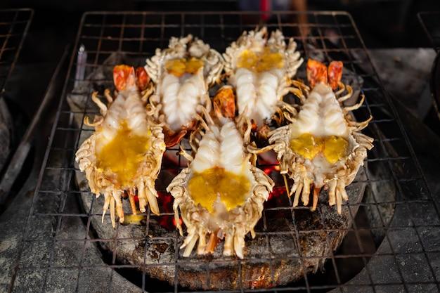 Grill garnalen, thais zeevruchten