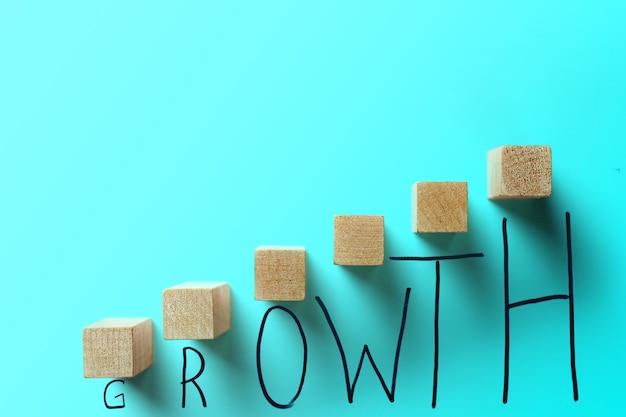 Groei business turquoise kleur concept.