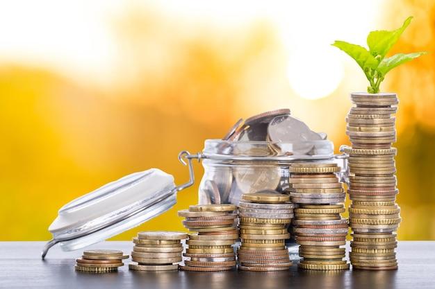 Groeiend geld bedrijfsconcept, verhoog uw budget.
