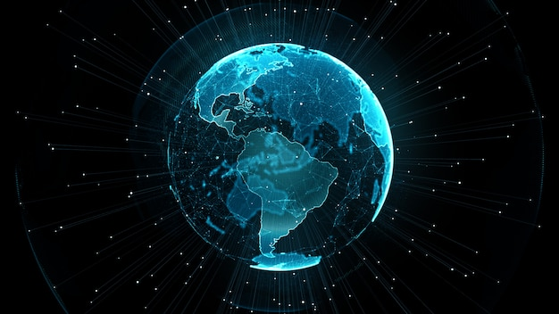 Groeiend wereldwijd netwerk en ict