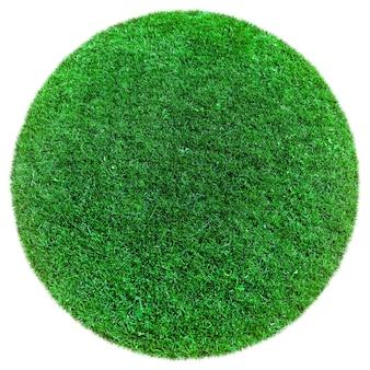 Groen aardegras op de witte vlakken