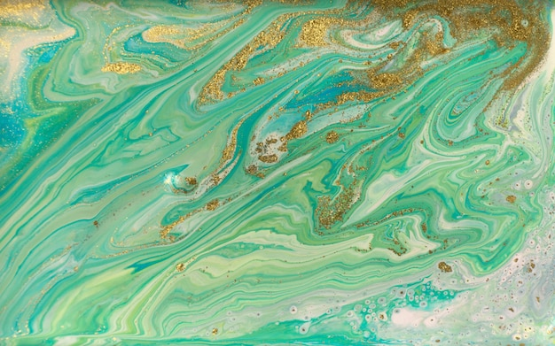 Groen, blauw en goud rimpelagaatpatroon. oceaanstijl mooie achtergrond.