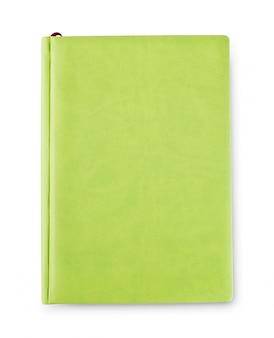 Groen dagboek dat van hierboven is ontsproten