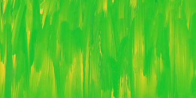 Groen en geel geschilderde textuur, heldere kleurrijke verfachtergrond, lentekleuren, kunstvloeistof, patroon getrokken effect. multicolor sjabloon. uitgesmeerde inkt, aquarel op doek.