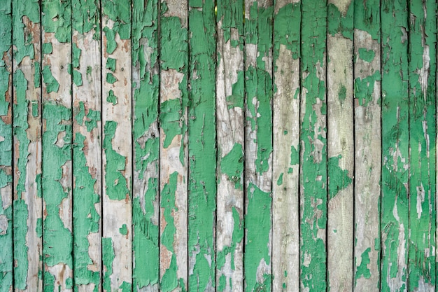 Groen geschilderd houtstructuur van houten muur voor achtergrond en textuur.