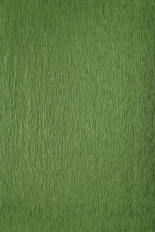 Groen inpakpapier close-up. groene gestructureerde achtergrond. verticaal frame.