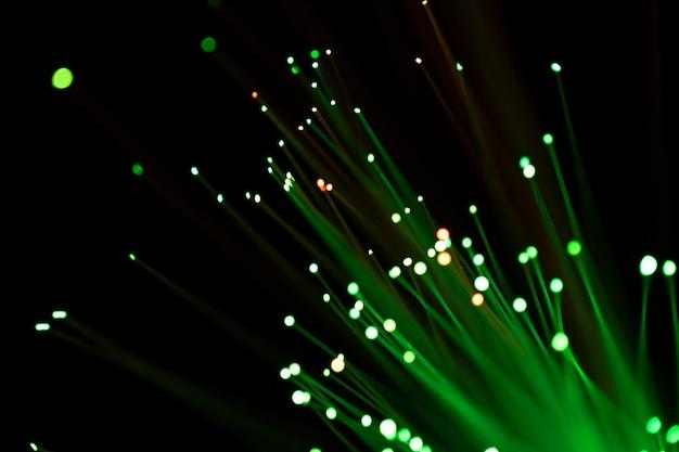 Groen licht van optische glasvezel