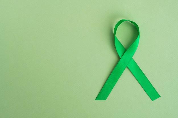 Groen lint voor bewustzijnslint voor geestelijke gezondheid