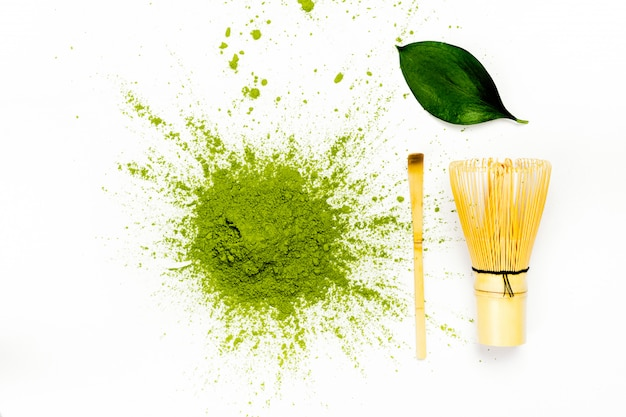 Groen matcha-theepoeder