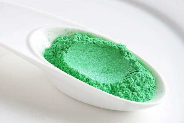 Groen micapigmentpoeder voor cosmetica