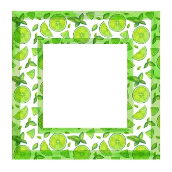Groen mojito-frame