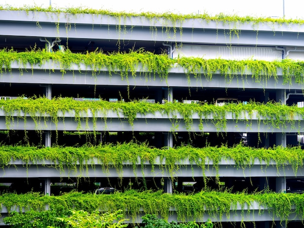 Groen parkeergebouw