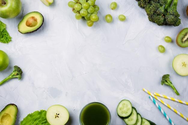 Groen sap, fruit en groenten