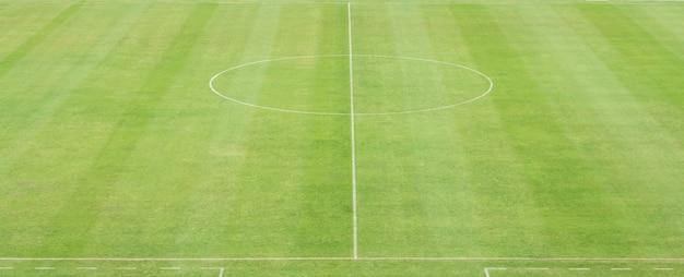 Groen voetbalveld met lijn