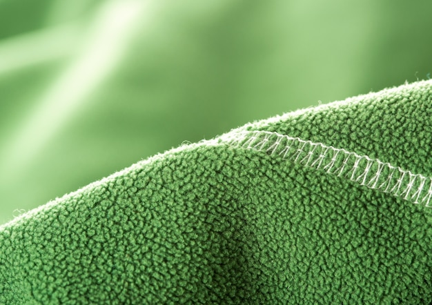 Groen zacht synthetisch fleece