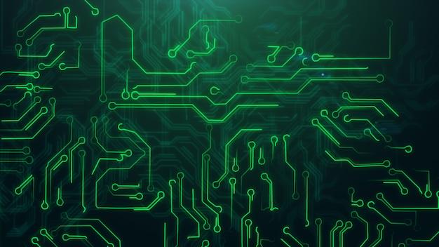 Groene abstracte achtergrond met high-tech printplaat