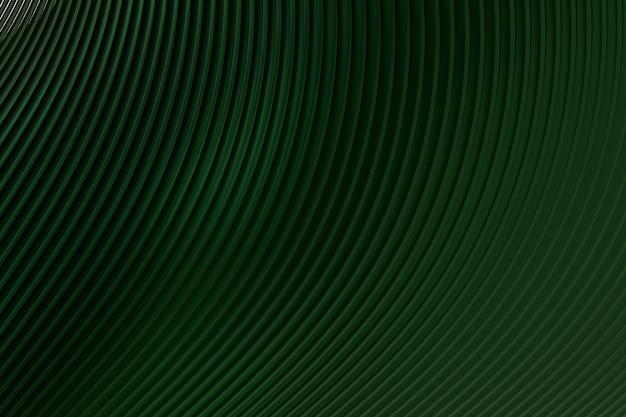 Groene abstracte muur golf architectuur abstracte achtergrond 3d-rendering, groene achtergrond voor presentatie