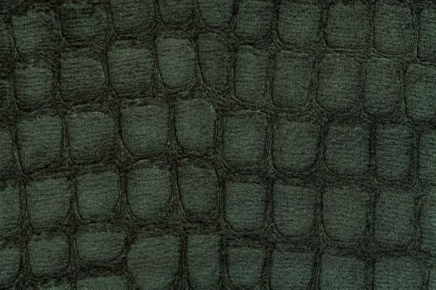 Groene achtergrond van zachte stofferingstextiel, close-up