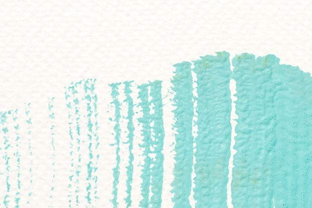 Groene acryl penseelstreek