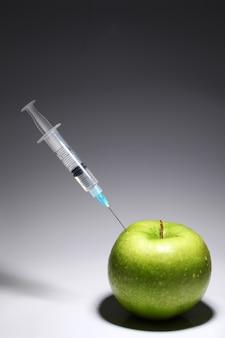 Groene appel en spuit