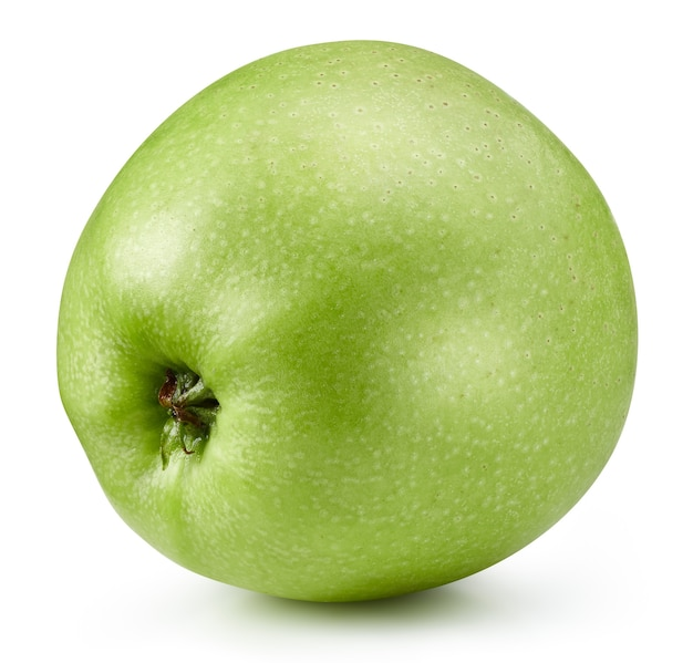Groene appel geïsoleerd close-up