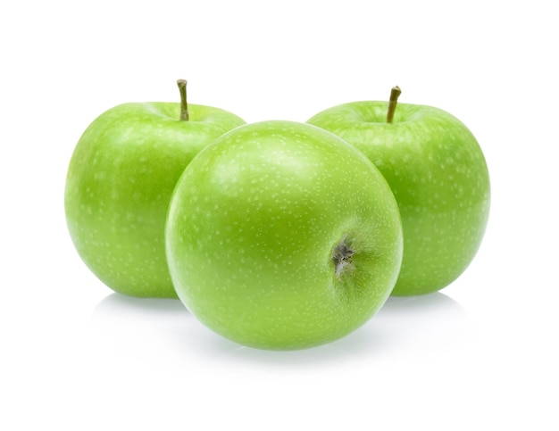 Groene appel geïsoleerd op een witte achtergrond