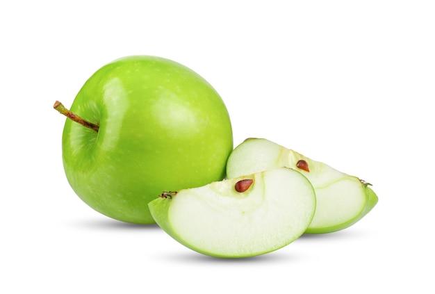 Groene appel geïsoleerd op wit