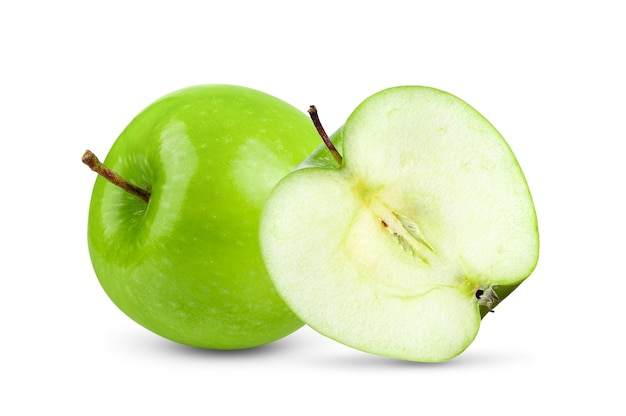 Groene appels op witte achtergrond