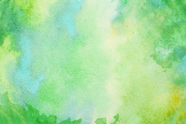 Groene aquarel splash lijn achtergrond. door te tekenen