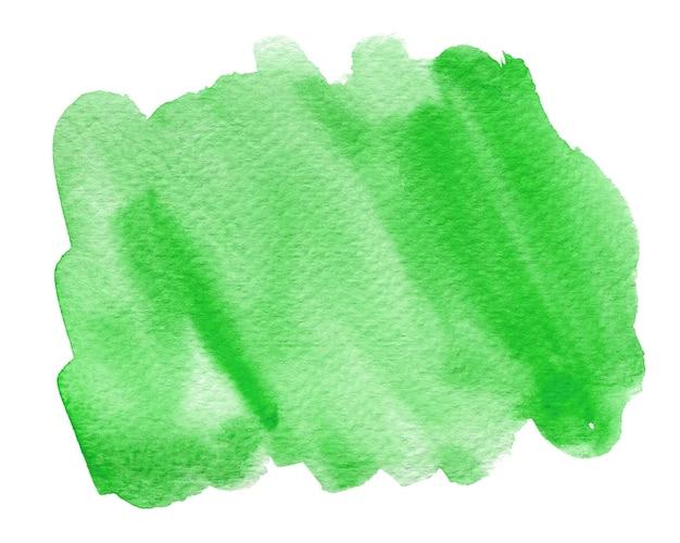 Groene aquarel vorm geïsoleerd op wit