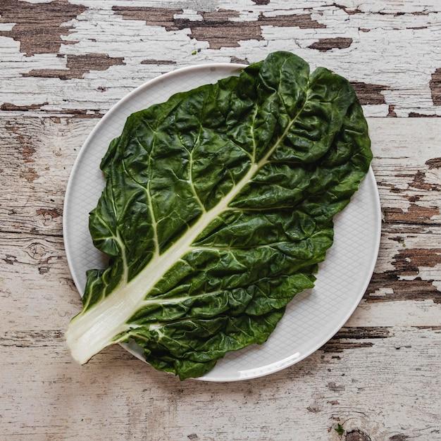 Groene biologische veggie voor salade