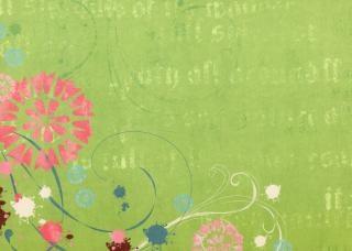 Groene bloemen papier textuur