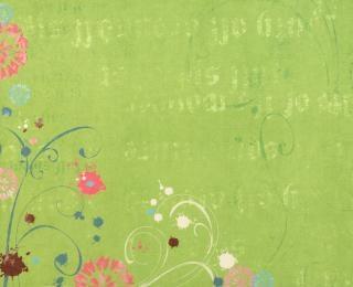 Groene bloemen papier