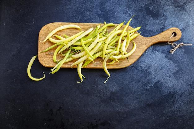 Groene bonen gele kleur peulvruchten ingrediënt