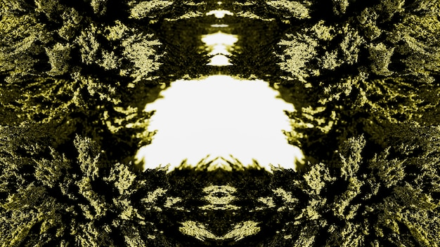 Groene caleidoscopische abstracte magnetische scheerpatroonachtergrond
