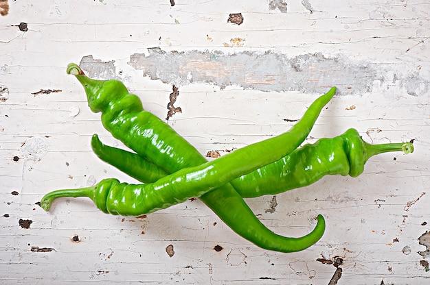 Groene chilipepers