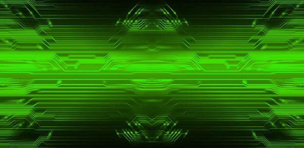 Groene cyber circuit toekomstige technologie achtergrond