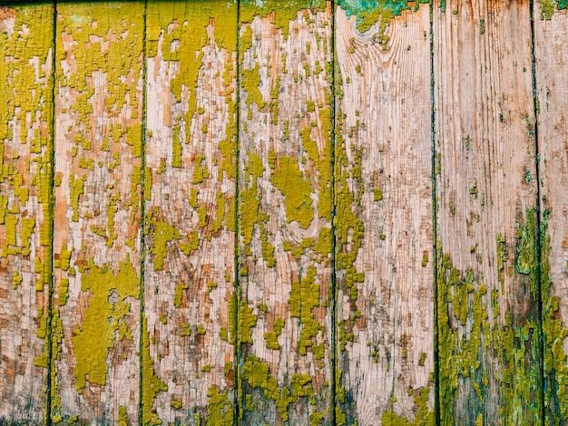 Groene deuren houtstructuur oude armoedige bestraalde verf
